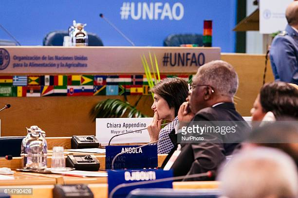 The mayor of Turin Ms Chiara Appendino at the World Food Day ceremony in the FAO headquarters on october 14th 2016 in Rome Italy