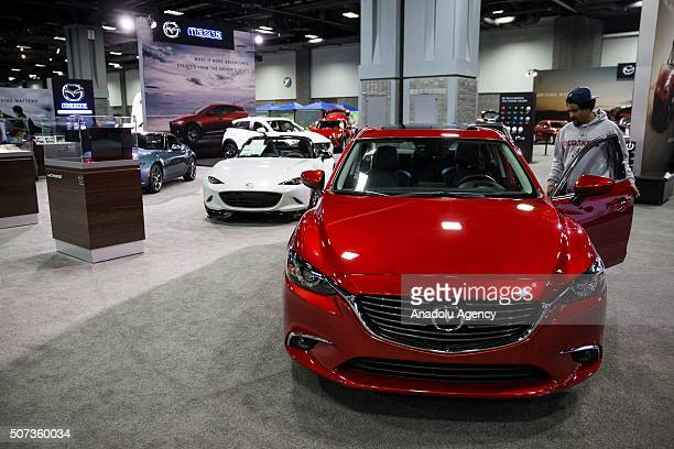 The Mazda booth at the Washington Auto Show in Washington USA on January 28 2015