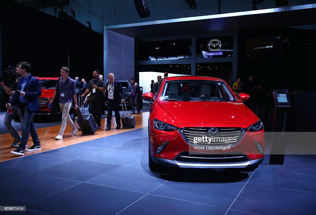 Mazda Press Conference At LA Auto Show