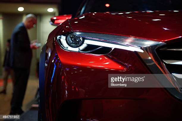 The Mazda Motor Corp Koeru concept vehicle stands on display at the Tokyo Motor Show in Tokyo Japan on Wednesday Oct 28 2015 Toyota Motor Corp Honda...
