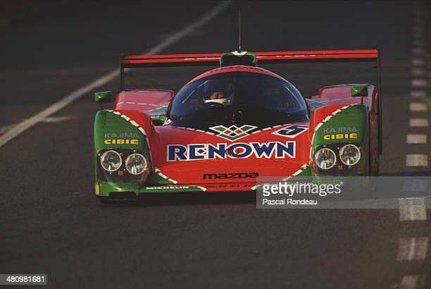 The Mazdaspeed Mazda MXR01 Mazda Judd V10 driven by Volker WeidlerJohnny Herbert and Bertrand Gachot during the FIA World Sportscar Championship 24...
