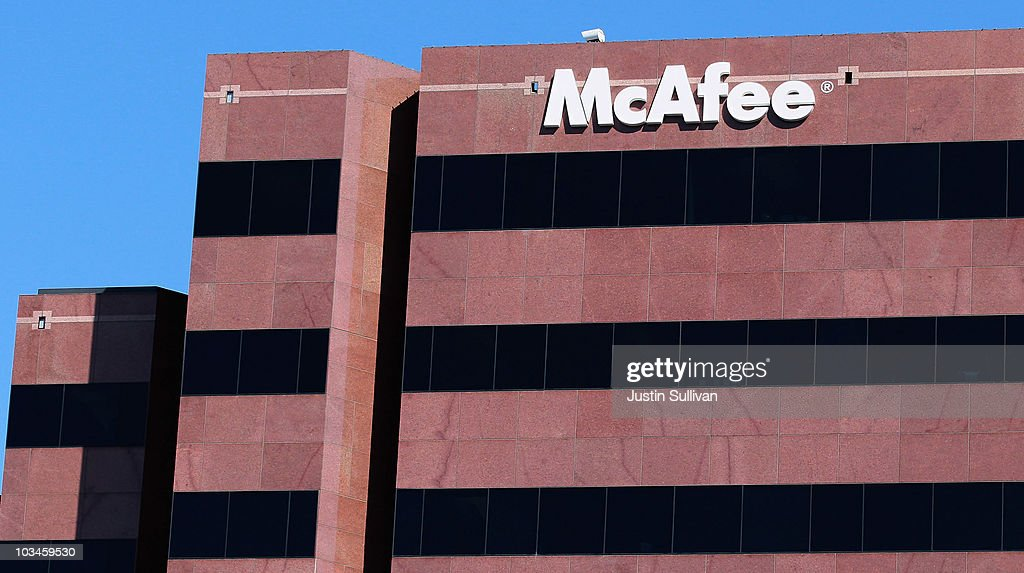 The McAfee logo is displayed outside of the company's headquarters August 19, 2010 in Santa Clara, California. Intel announed today that it plans to buy security software maker McAfee for a reported $7.68 billion.