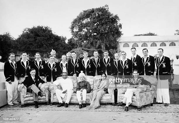 The MCC Cricket Team pictured with the Nizam of Hyderabad and his wife during the 195152 Tour of India Pakistan and Ceylon circa 1st January 1952...