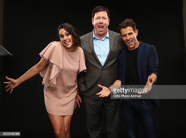 CBS' 'The McCarthys' actors Kelen Coleman Jimmy Dunn and Joey McIntyre pose for a portrait during CBS' 2014 Summer TCA tour at The Beverly Hilton...