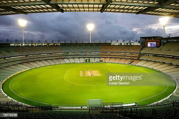 The MCG stands sit empty during the Ford Ranger Cup match between the Victorian Bushrangers and the Queensland Bulls at the Melbourne Cricket Ground...
