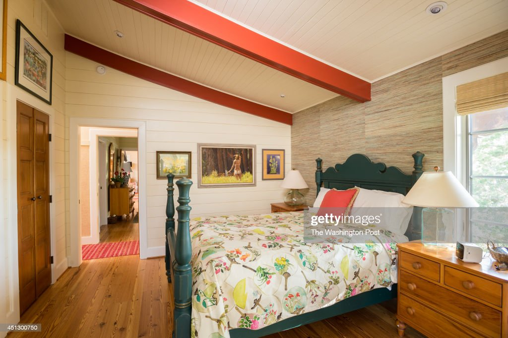 The McIntire's Japanese inspired beach house in Rehoboth Beach, DE, incorporates a blend of Western and pan-Asian design themes throughout the interior. Shown here is the master bedroom.
