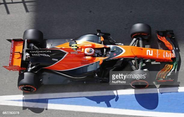 The McLaren of Stoffel Vandoorne during practice 1 of the Formula 1 Spain GP held in the BarcelonaCatalunya Circuit on may 12 2017 Photo...