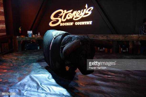 The mechanical bull is seen during ACM After Party For A Cause at Stoney's Rockin' Country on March 30 2017 in Las Vegas Nevada
