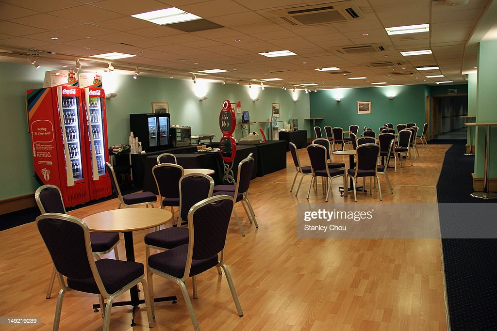 The Media Lounge at the Media Centre at Hampden Park on July 25 2012 in Glasgow Scotland