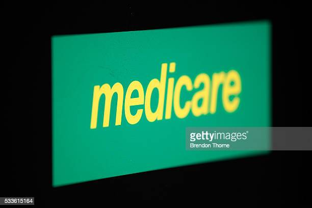 The Medicare logo is seen on May 23 2016 in Sydney Australia In the May budget the Turnbull Government announced it would continue the indexation...