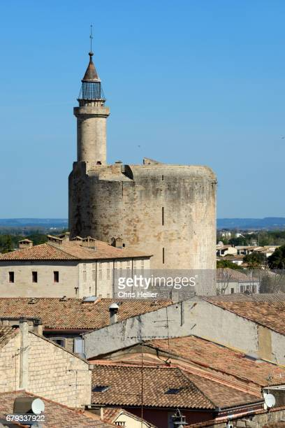 The Medieval Tower of Constance and the Rooftops of Aigues-Mortes