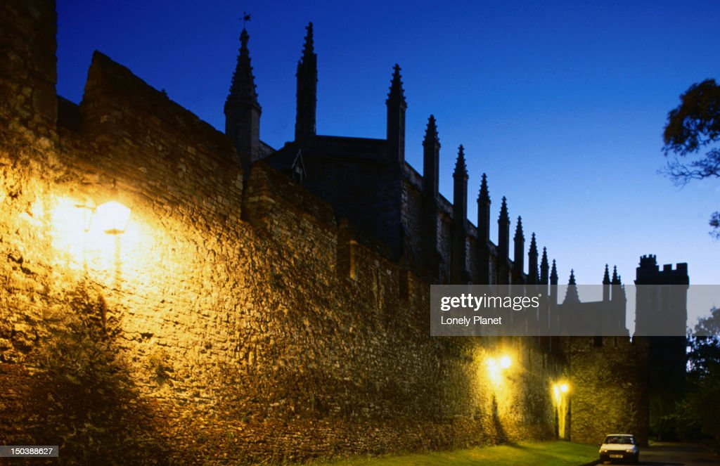 The Medieval walls and chapel tower of New College