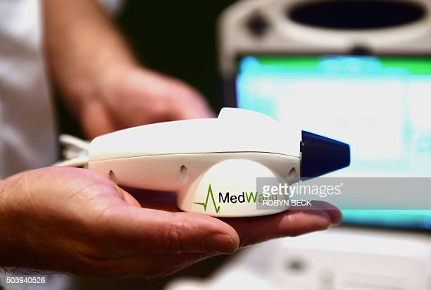 The MedWand medical measurement multitool is displayed at CES 2016 in Las Vegas Nevada January 7 2016 The MedWand is a consumerfriendly medical...