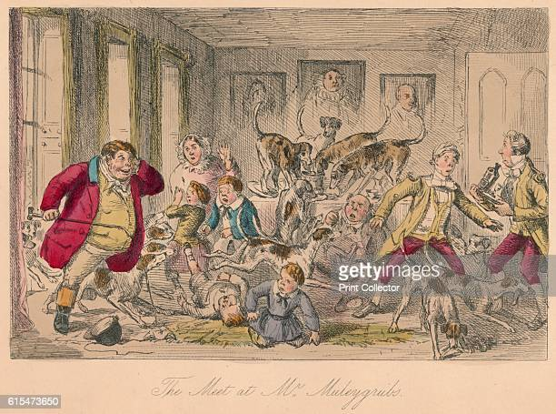 The Meet at Mr Muleygrubs' 1854 From Handley Cross or Mr Jorrocks's Hunt by Robert Smith Surtees [Bradbury and Evans London 1854] Artist John Leech