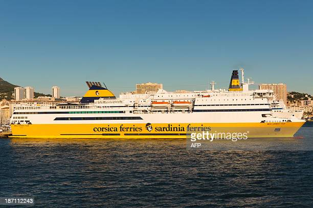 mega express corsica ferries stock photos and pictures getty images. Black Bedroom Furniture Sets. Home Design Ideas