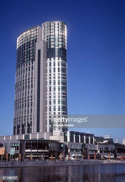 The Melbourne Crown Casino on the Yarra River in Melbourne Victoria
