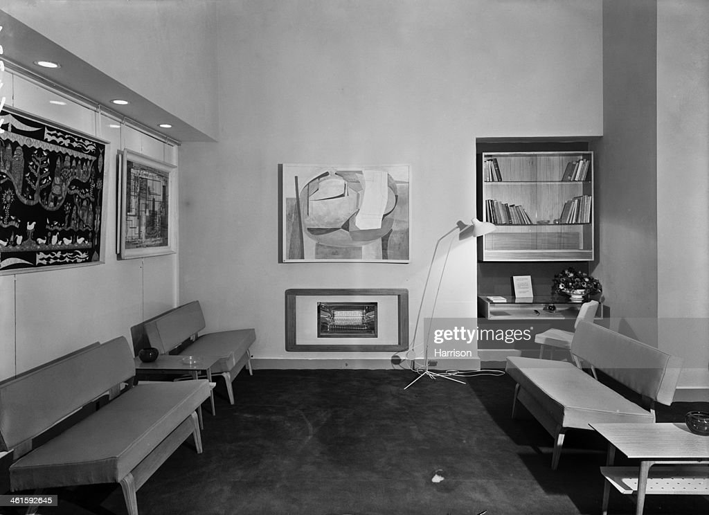 The members' Lounge at the opening of the new premises of the Institute of Contemporary Arts at 17 Dover Street Piccadilly London 13th December 1950...