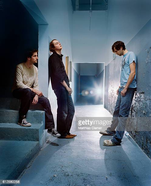 The members of Keane are LR Rich Hughes Tom Chaplin and Tim RiceOxley