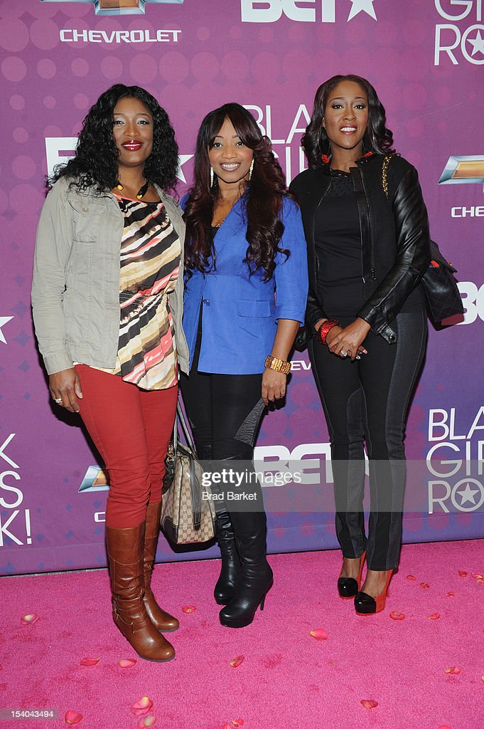 The members of SWV (Sisters with Voices) pose on the red carpet during the CHEVY Shot Caller's Dinner at Espace NYC on October 12, 2012 in New York City.