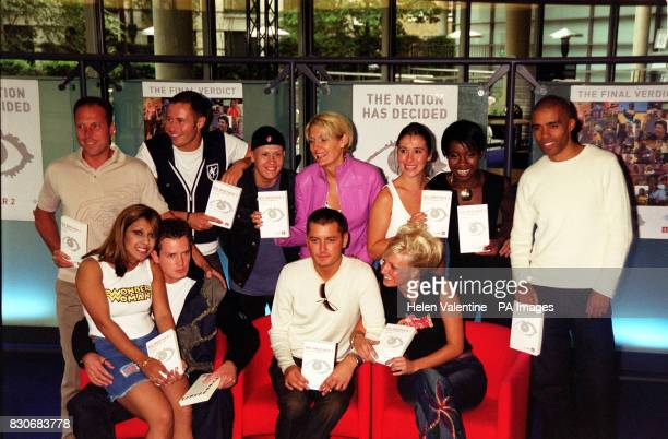 The members of the Big Brother house regroup at Channel 4's London headquarters to promote Big Brother 2 The Official Unseen Story by Jean Ritchie...