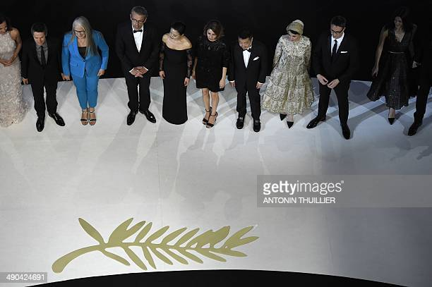 The members of the Feature films Jury French actress Carole Bouquet US actor Willem Dafoe New Zealander director and President of the Feature films...
