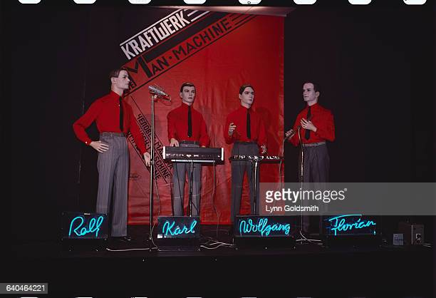 The members of the musical group 'Kraftwerk'