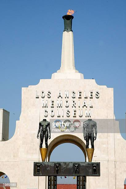 The LA Memorial Coliseum served as the start of the Revlon Run/Walk For Women May 10 2003 in Los Angeles California