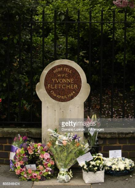 The memorial to PC Yvonne Fletcher in St James's Square London PRESS ASSOCIATION photo Picture Date Friday April 17th 2009 Photo credit should read...