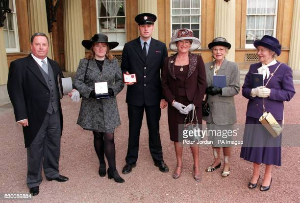 The memory of the first peacetime woman firefighter to die in Britain was honoured by the Queen at Buckingham Palace today Fleur Lombard who died...