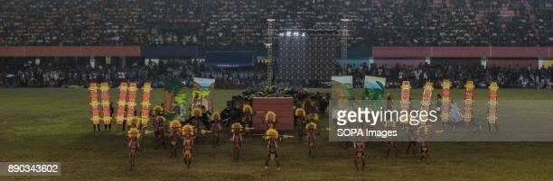 PHILIPPINES MARIKINA NCR PHILIPPINES The men of Sinulog Festival roared their manliness as they performed their danceThe Biggest Annual Philippine...