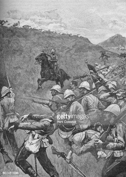 The Men Struggled On Through The Hail of Fire 1902 A scene during the Boer Wars From Battles of the Nineteenth Century Vol I [Cassell and Company...