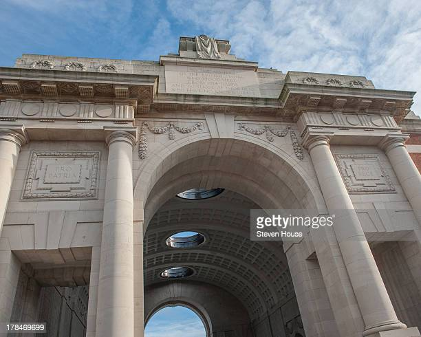 CONTENT] The Menin Gate Great War Memorial at Ypres Flanders Belgium The 'Last Post' is played here every night