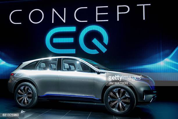 The Mercedes EQ concept is shown during the 2017 North American International Auto Show in Detroit Michigan January 9 2017 / AFP / JIM WATSON