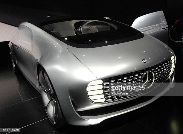 The MercedesBenz concept F 015 Luxury in Motion autonomous car is displayed during the opening day of the 2015 North American International Auto Show...