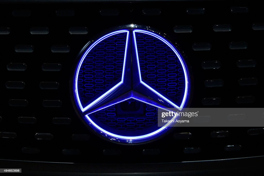 The MercedesBenz logo is seen on the F015 at the media preview ahed of The 44th Tokyo Motor Show 2015 at Tokyo Big Sight on October 28 2015 in Tokyo...
