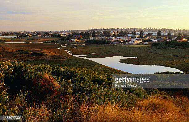 The Merri River and township of Warrnambool