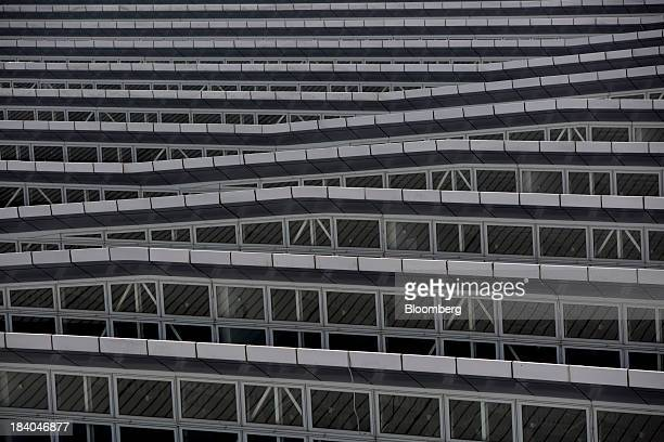 The metal roof design of Terminal 2 of Hong Kong International Airport is seen in Hong Kong China on Thursday Oct 10 2013 A newlyenacted tourism law...