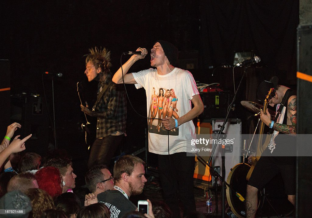 The Metalcore band The Plot in You performs in front of a sold out crowd at The Emerson Theater on October 27, 2013 in Indianapolis, Indiana.