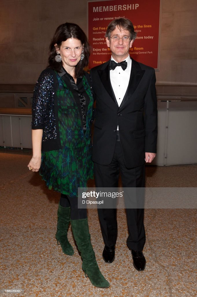 The Metropolitan Museum of Art director Thomas P. Campbell (R) and wife Phoebe Campbell attend the 10th annual Apollo Circle benefit at the Metropolitan Museum of Art on November 14, 2013 in New York City.