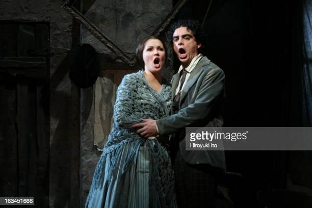 The Metropolitan Opera celebrates 40th anniversary of its move to Lincoln Center featuring two biggest opera stars Anna Netrebko and Roland Villazon...