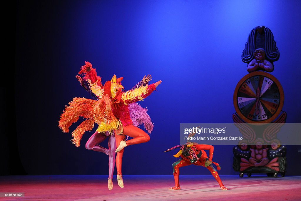 The Mexican dance company Amalia Hernandez perform during the 41º Edition of the International Guanajuato Cervantino Festival on October 14, 2013 in Guanajuato, Mexico.