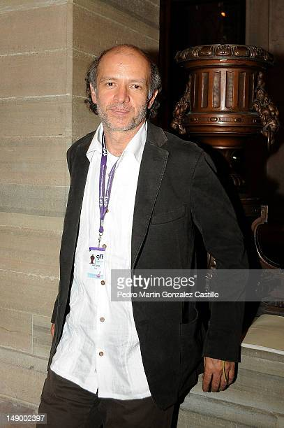 The mexican film director Juan Carlos Rulfo arrives at the Auditorio del Estado during the Guanajuato International Film Festival on July 20 in...