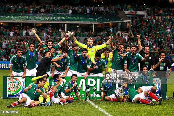 The Mexican team celebrate winning the U17 World Cup during the FIFA U17 World Cup Mexico 2011 Final during the FIFA U17 World Cup Mexico 2011 Final...