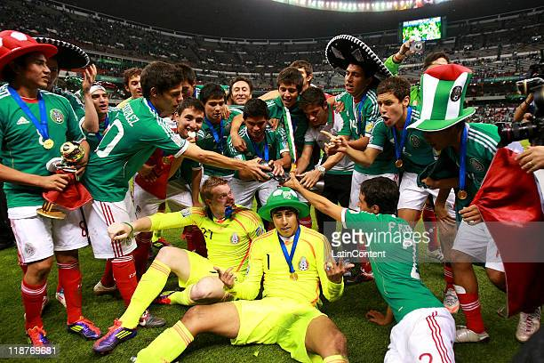 The Mexican team celebrate winning the U17 World Cup during the FIFA U17 World Cup Mexico 2011 Final during the FIFA U17 World Cup Mexico 2011 Final...