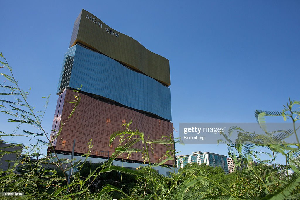 The MGM Macau, operated by MGM China Holdings Ltd., stands in Macau, China, on Sunday, Aug. 4, 2013. MGM China Holdings is scheduled to release second quarter results on Aug. 6. Photographer: Lam Yik Fei/Bloomberg via Getty Images