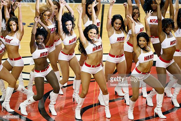 The Miami Heat dance team perform during Game One of the 2011 NBA Finals between the Dallas Mavericks and Miami Heat on May 31 2011 at the American...