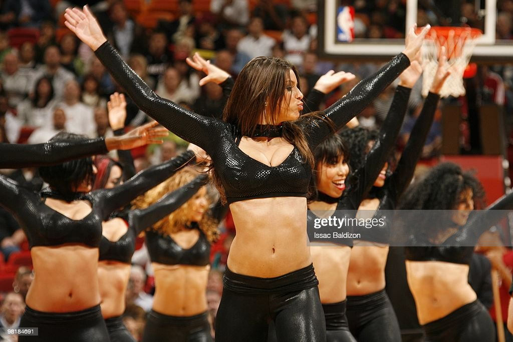 The Miami Heat Dancers perform during the game between the Los Angeles Lakers and the Miami Heat on March 4 2010 at American Airlines Arena in Miami...