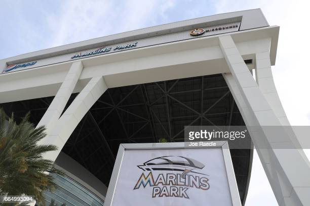 The Miami Marlins stadium is seen as reports indicate that former Florida Governor and presidential candidate Jeb Bush may be in talks to purchase...