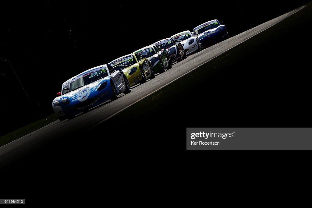 The Michelin Ginetta GT4 Supercup field exit Dingle Dell Corner at Brands Hatch on October 2 2016 in Longfield England