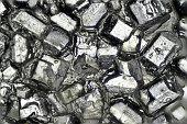 The Microscopic World. Sugar crystals.